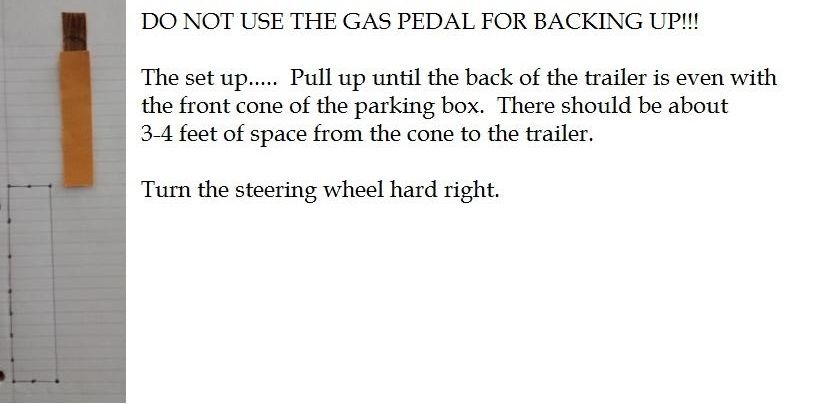 trucking backing-up diagram and tips