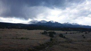 beautiful sky in Collegiate Peaks near Salida Colorado