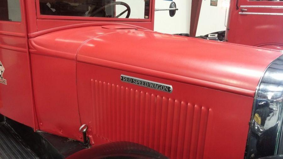 original red REO Speedwagon truck