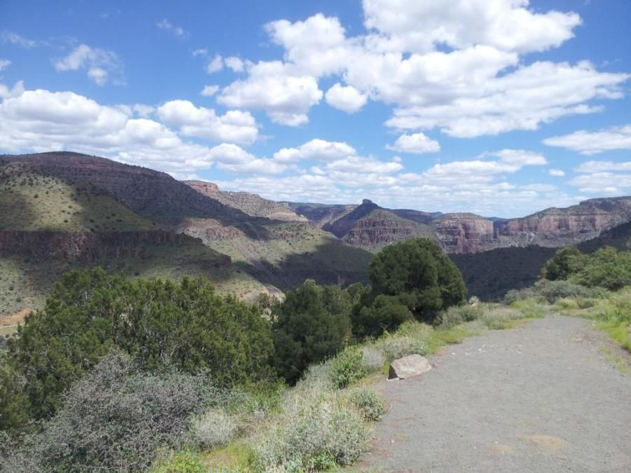 truckers road scenery pictures of salt river canyon Arizona