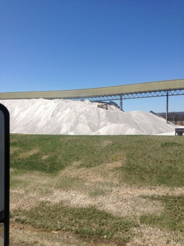 giant pile of rock salt in upstate NY