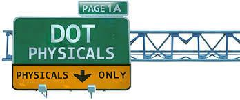 DOT physicals road highway sign