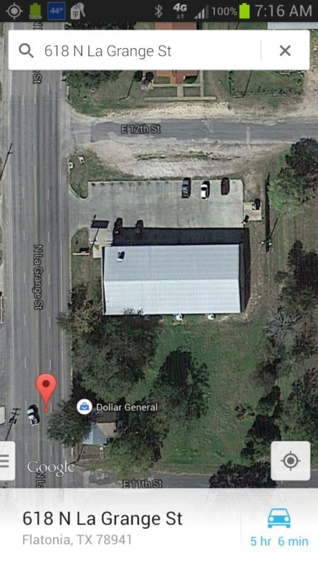 overhead satellite screenshot of dollar general
