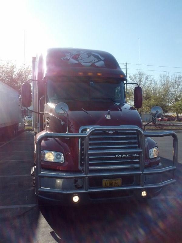 red big M truck