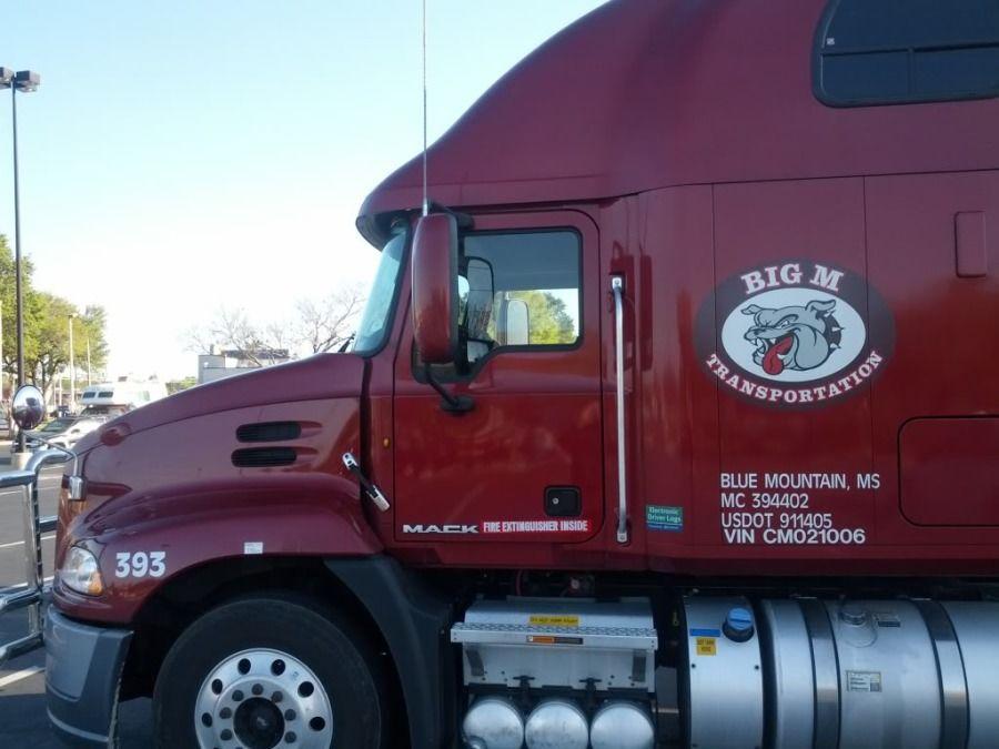 red big M truck big rig
