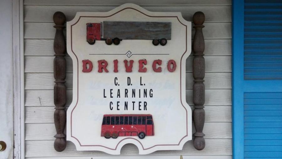 driveco cdl school sign
