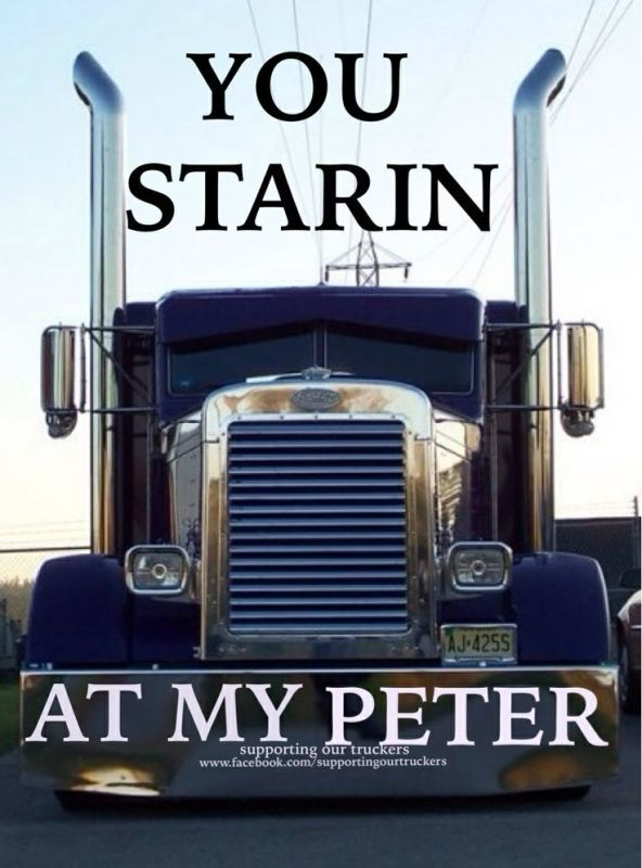 Peterbilt trucking meme you looking at my Peter