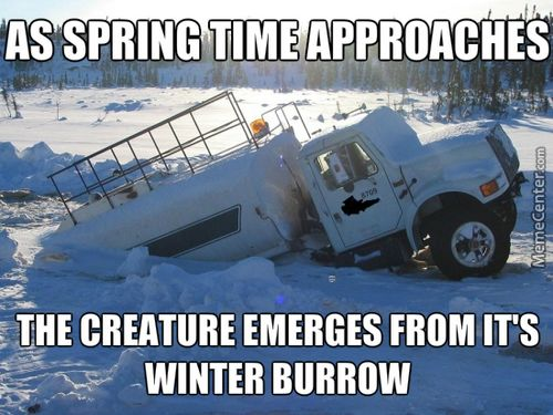 funny trucking pictures tanker truck buried in snow