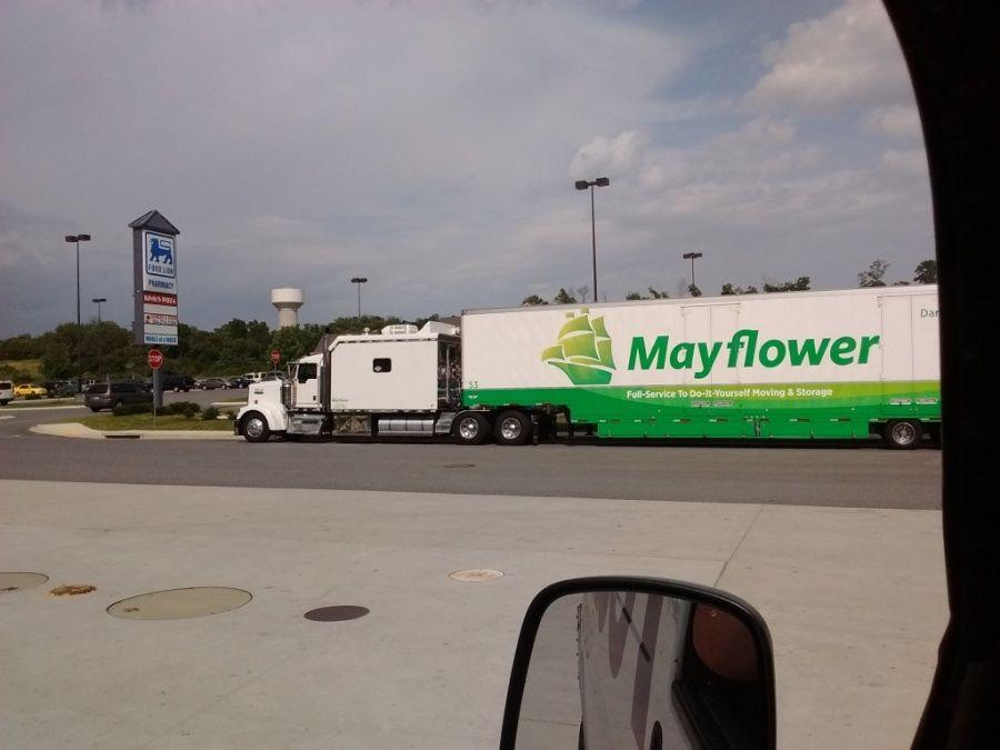 Mayflower moving truck with huge sleeper berth