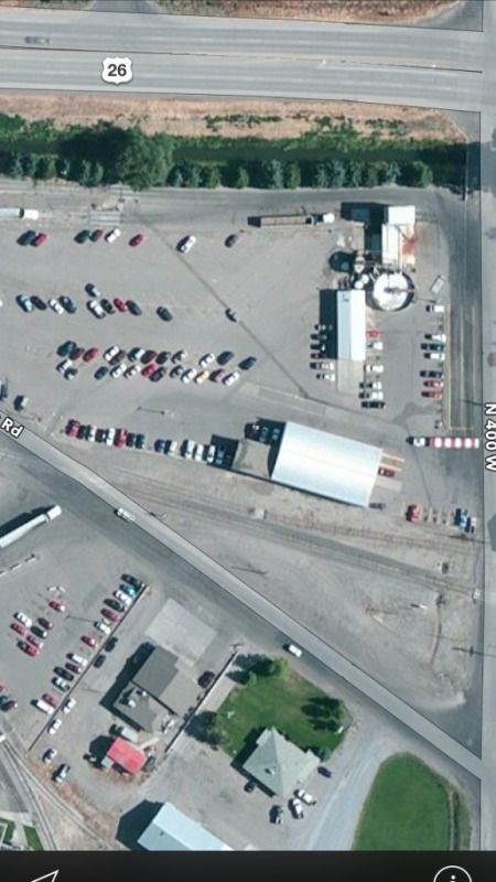 overhead view of a shipping facility