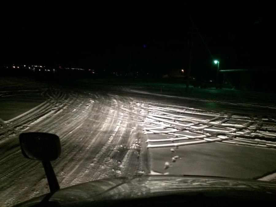 truckers picture of snow-covered roads