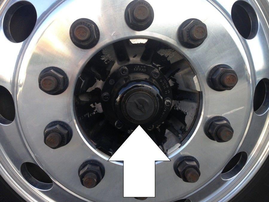 truck driver's pretrip inspection hub seal