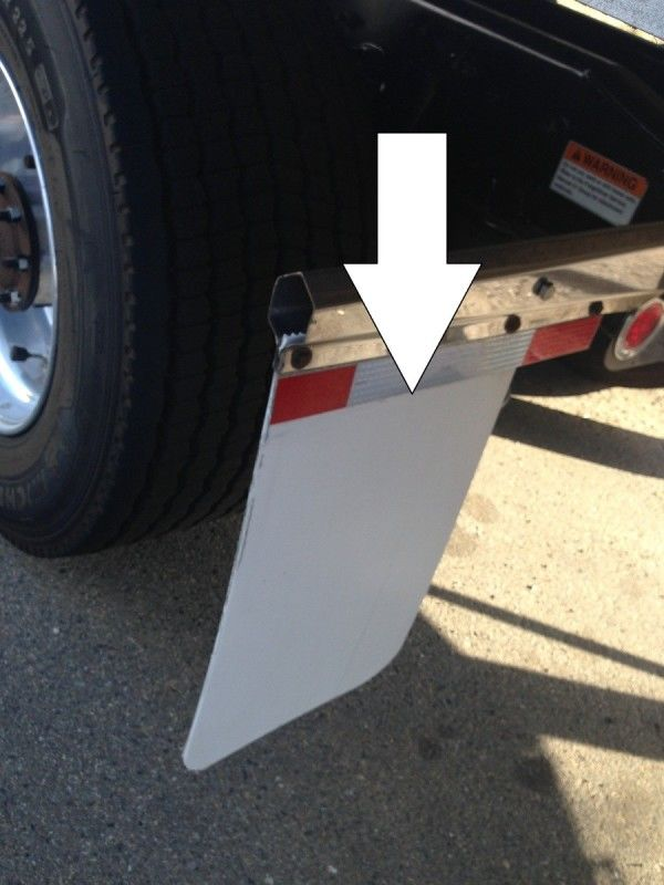 truck driver's pretrip inspection mud flap