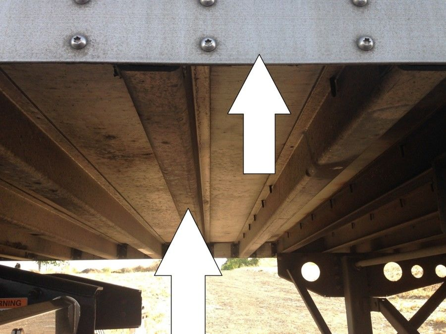 truck driver pretrip inspection trailer frame and cross-members