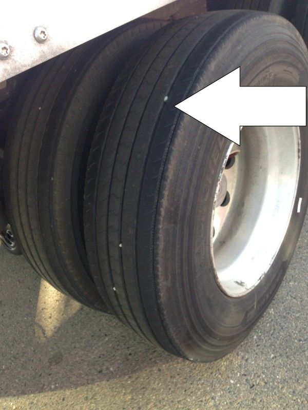 trucker pretrip inspection tires and tread