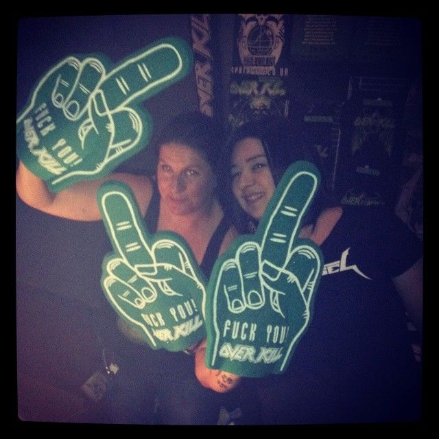 Overkill band foam middle fingers