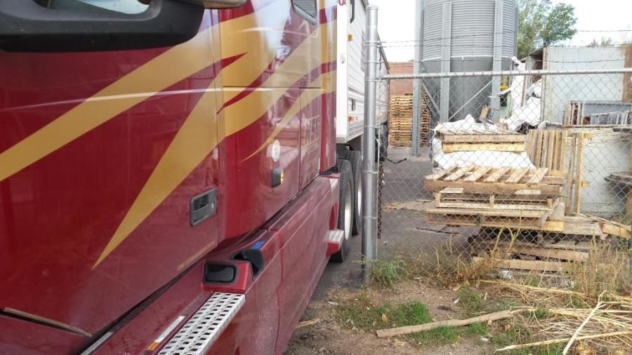NSG truck backed into a feed mill in Denver