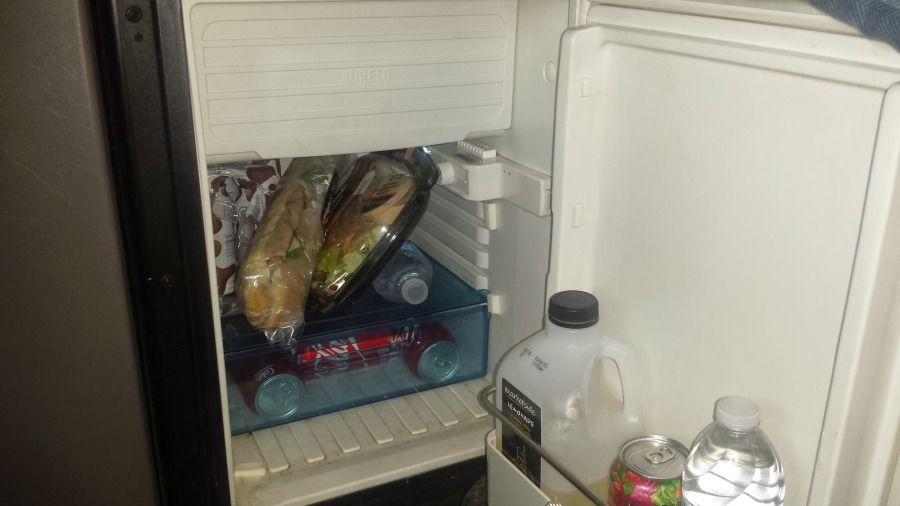 small truck driver's refrigerator