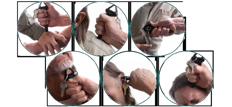 Kubotan truck driver's self-defense key-chain demonstration