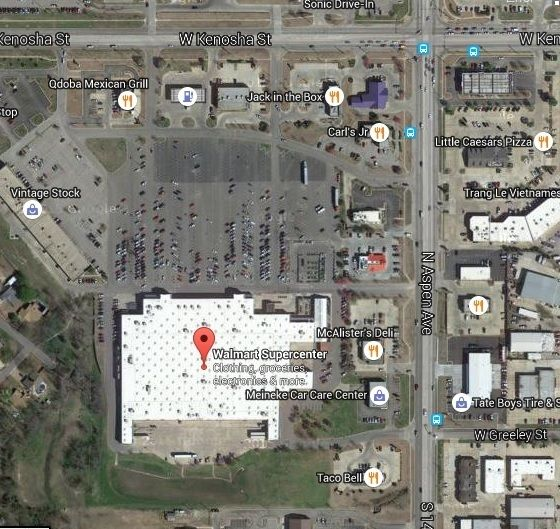 satellite image of walmart supercenter for truck drivers reference