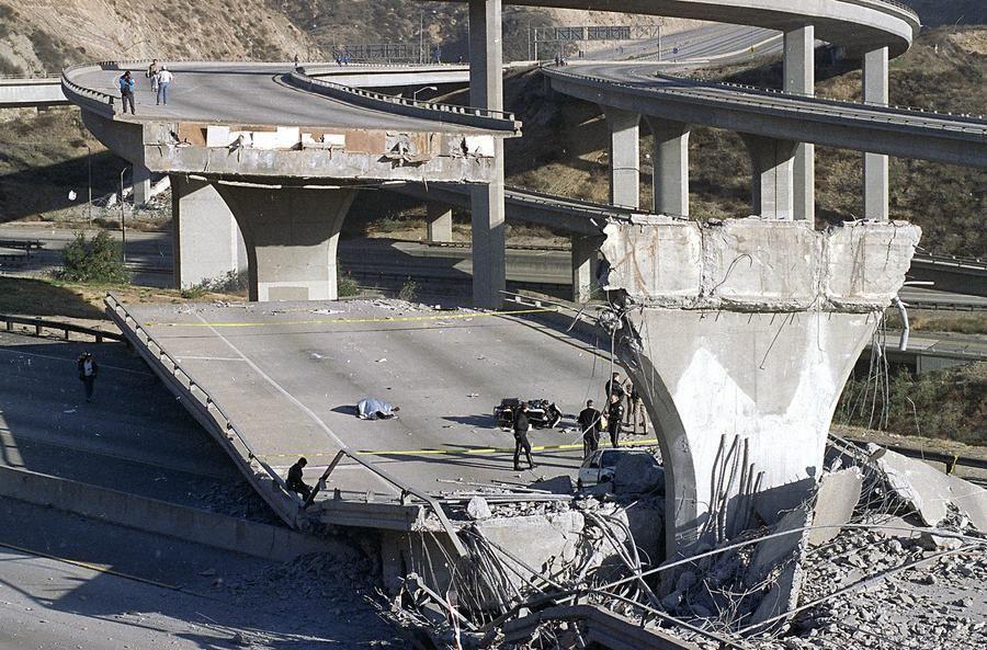 I-5 after 1994 Northridge California earthquake