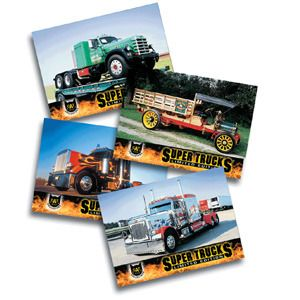 SuperTruck trading cards from CAT scale