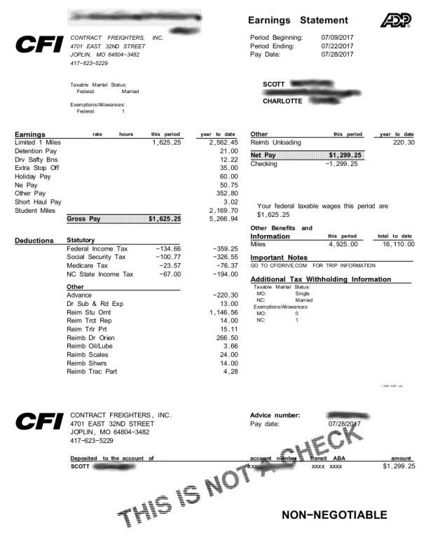 My Pay As A Rookie Driver - Page 2 | TruckingTruth Forum