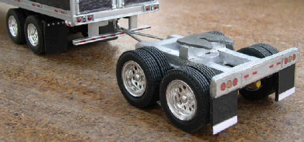 model of trucking dolly with pintle lock