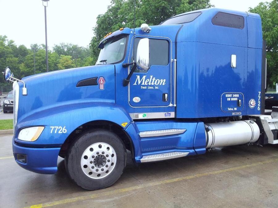 brand new blue melton truck tractor-trailer