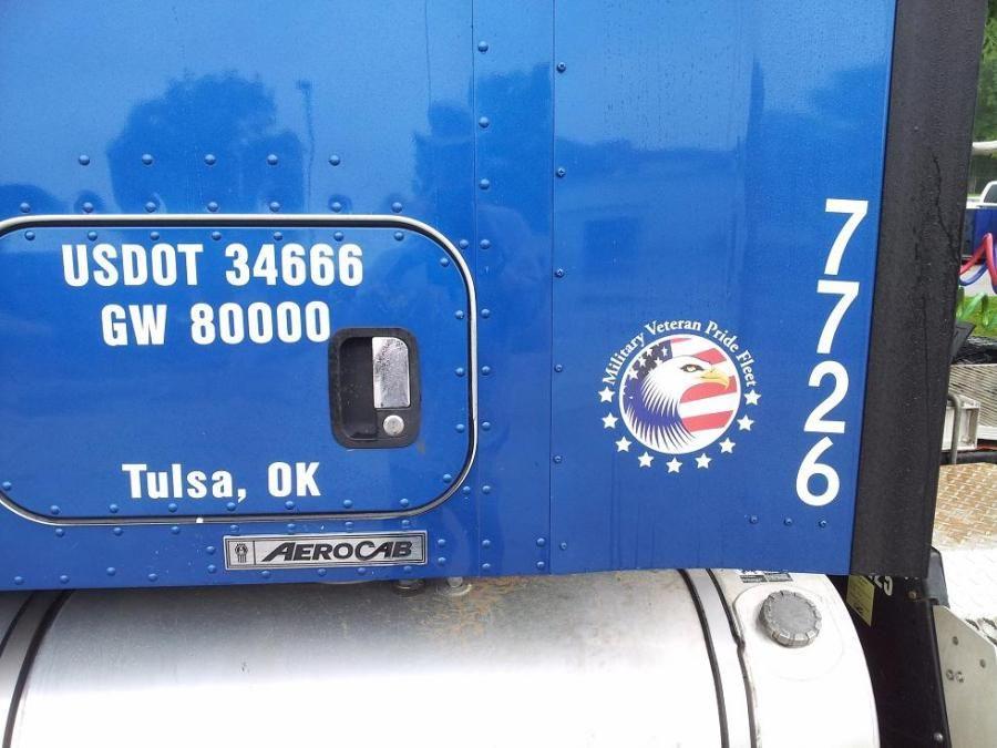 new blue Melton truck