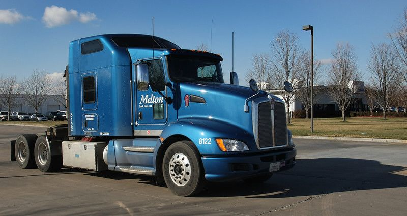 blue melton tractor trailer
