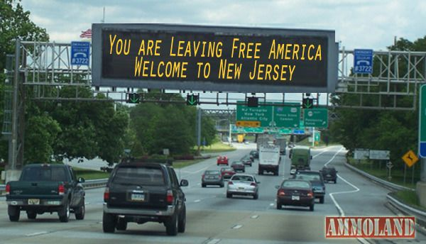Leaving free America welcome to New Jersey sign