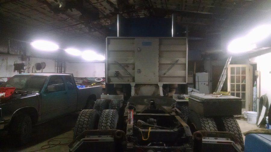 headache rack installation on semi truck