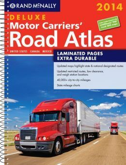 cover of the 2014 rand mcnally motor carrier's road atlas