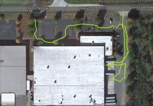 My goofy parking route