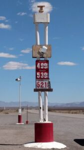 Amboy CA, 2016. I didn't need gas fortunately (yes they are open)