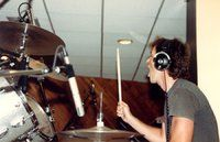 Laying down drum track 2