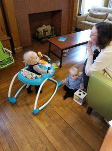 Babies playing.