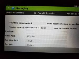 Pay stub.