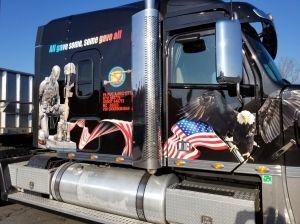 Truck military graphics.