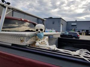 Masked skeleton.