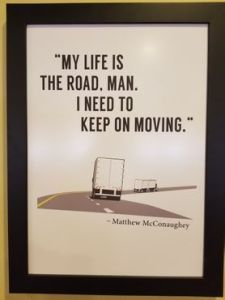 My life is the road.