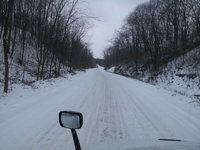 A snow covered passage in Ohio
