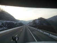Passing through the Allegheny Mountains