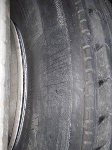 Tire off rim