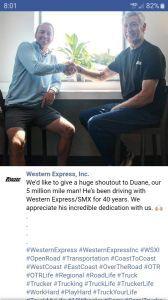 Western express 5 million mile man