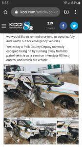 Hit and run on deputy car