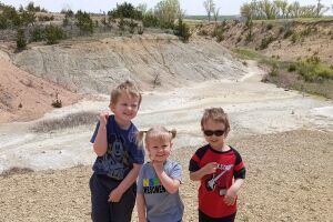 Kids finding fossils