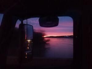 Sunrise over the Platte River, east of Lincoln NE
