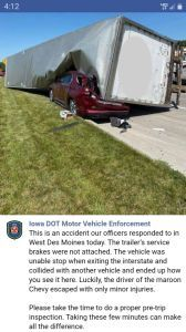 Truck rollover crushes suv